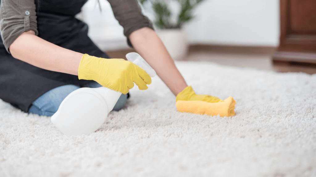 Paklāja tīrīšana ar lupatu